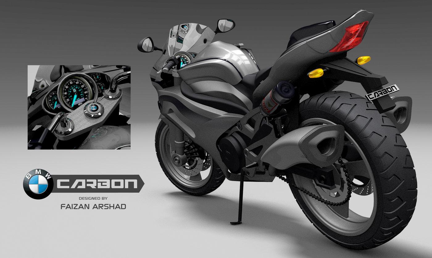 BMW 3d Bike Concept by Faizan Arshad at Coroflot com