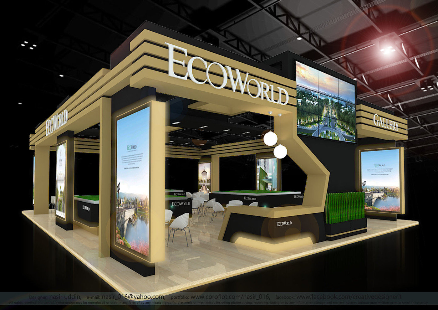 D Exhibition Booth Design : Get trade show displays in canada from best displays graphics