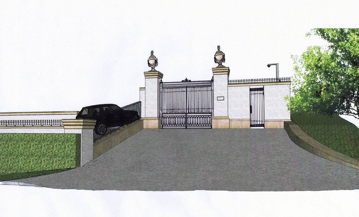 Entrance Gate Design_Bel Air Residence By Jinah Song At