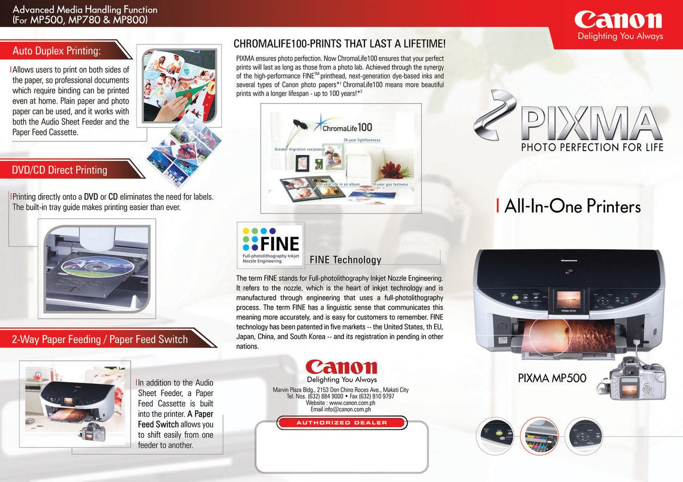 Brochures By Amador Plopenio Jr At 2 Way Switch Feed Canon Al In One Printers Fa