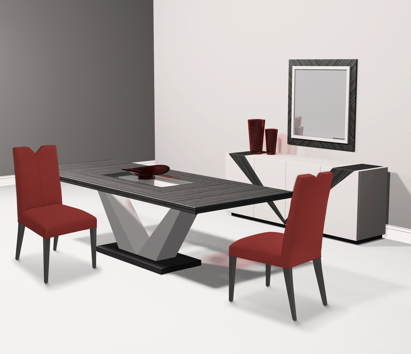 creative elegance furniture. The Valencia Dining Room Collection For Creative Elegance. Shown With Extension Table, Buffet, Mirror And Side Chairs. Made To Order In California. Elegance Furniture