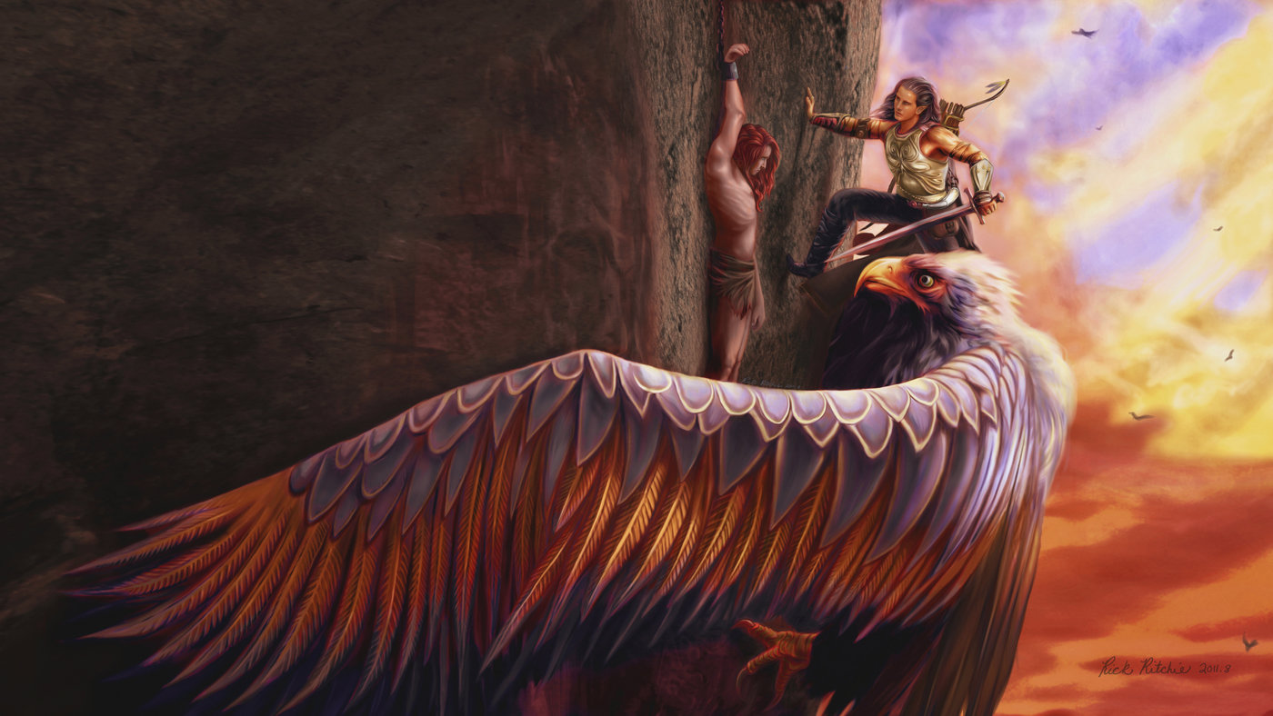 digital fantasy paintings by rick ritchie at coroflot com