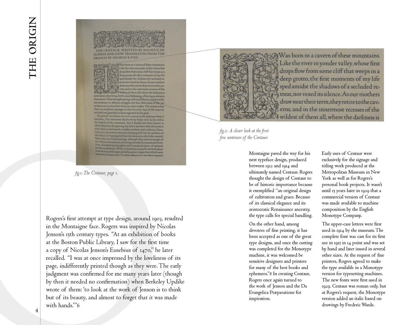 Centaur Typeface Book by David Brennan at Coroflot com
