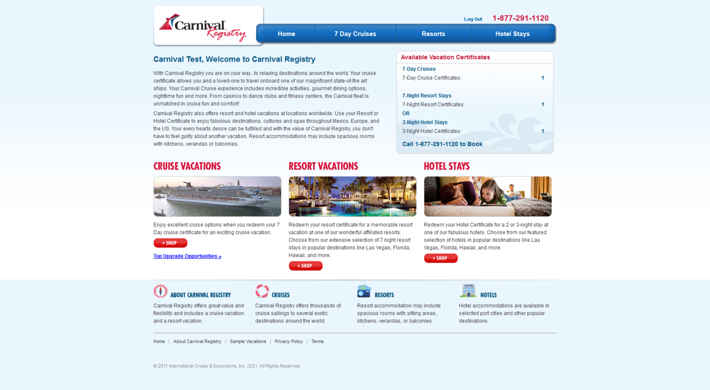 Carnival Website By Jackson Turner Iii At Coroflot