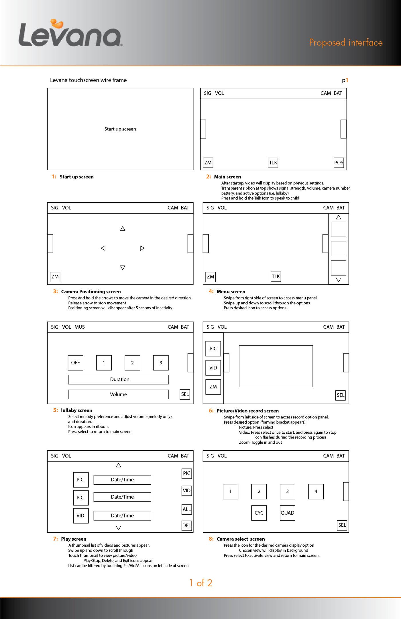 Levana UX/UI by Brad Clary at Coroflot com