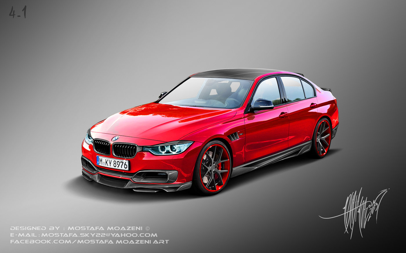 bmw f30 tuning by mostafa moazeni at. Black Bedroom Furniture Sets. Home Design Ideas