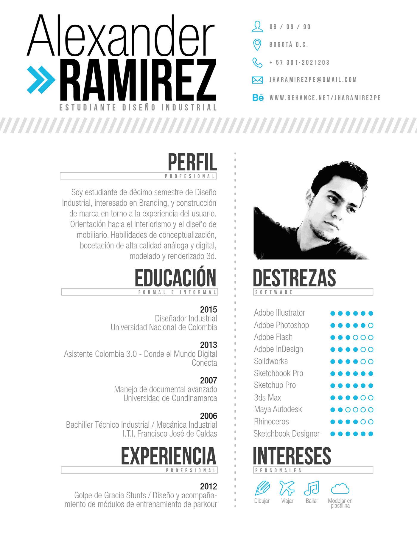 Curriculum Vitae By Jhon Alexander Ramirez Pena At Coroflot Com