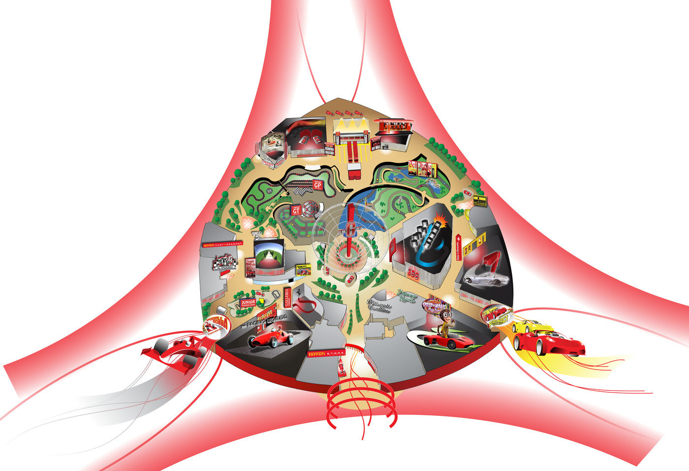 Ferrari World Map.Ferrari World Abu Dhabi Restaurants Retail And Everything Else By