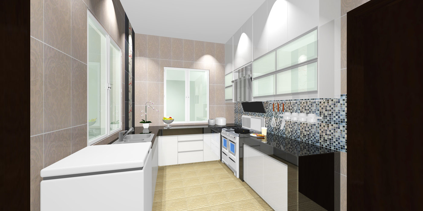 Dry And Wet Kitchen by Made In Kitchen Design Studio at Coroflot.com