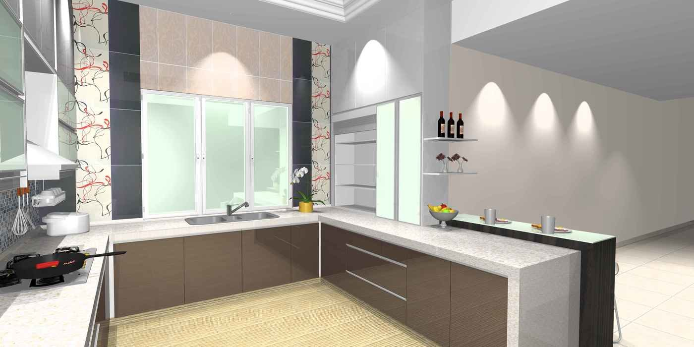 Wet And Dry Kitchen Interior Design