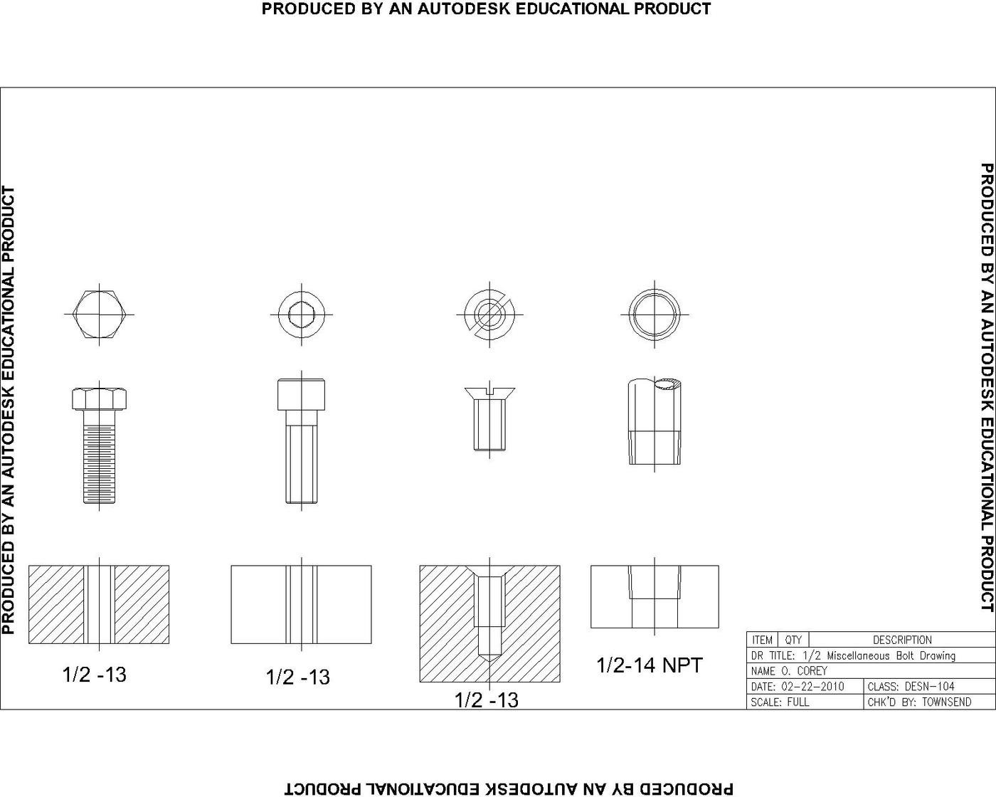 AutoCAD 2D Drawings and Renderings by O  Corey at Coroflot com