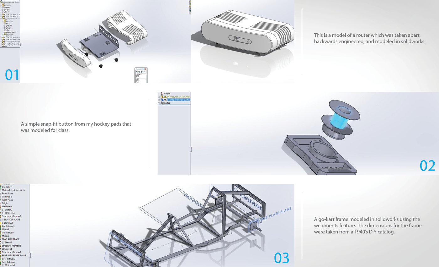 Solidworks Practice by Jordan Zito at Coroflot com