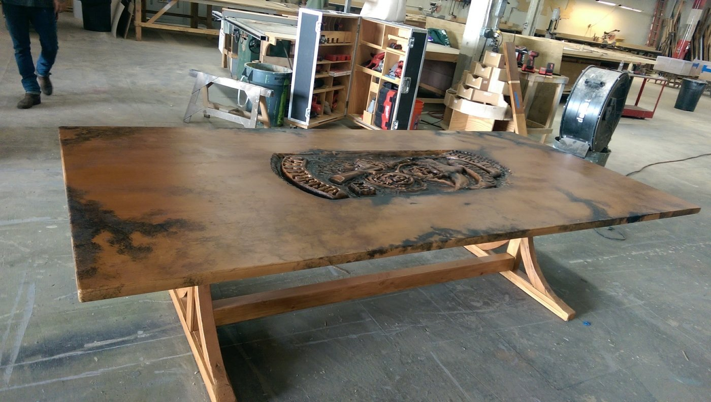 Sons Of Anarchy Post Explosion Clubhouse Meeting Table By Maxwell B