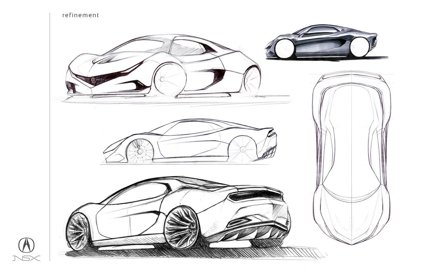 2020 nsx concept by jake bosnak at coroflot com