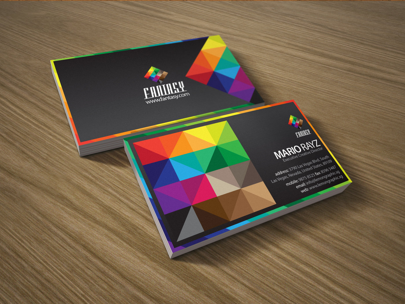 Creative business card by rayz ong at coroflot fantasy corporate business card to catch your clients attention to make them remember and outshine from the rest of the boring cards in their holder reheart Images