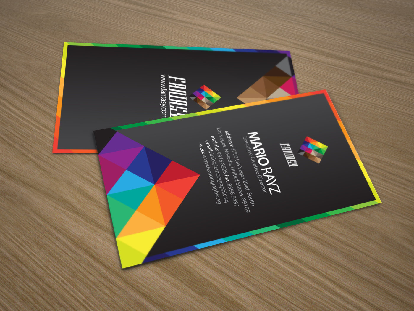 Creative business card by rayz ong at coroflot fantasy corporate business card to catch your clients attention to make them remember and outshine from the rest of the boring cards in their holder reheart Image collections
