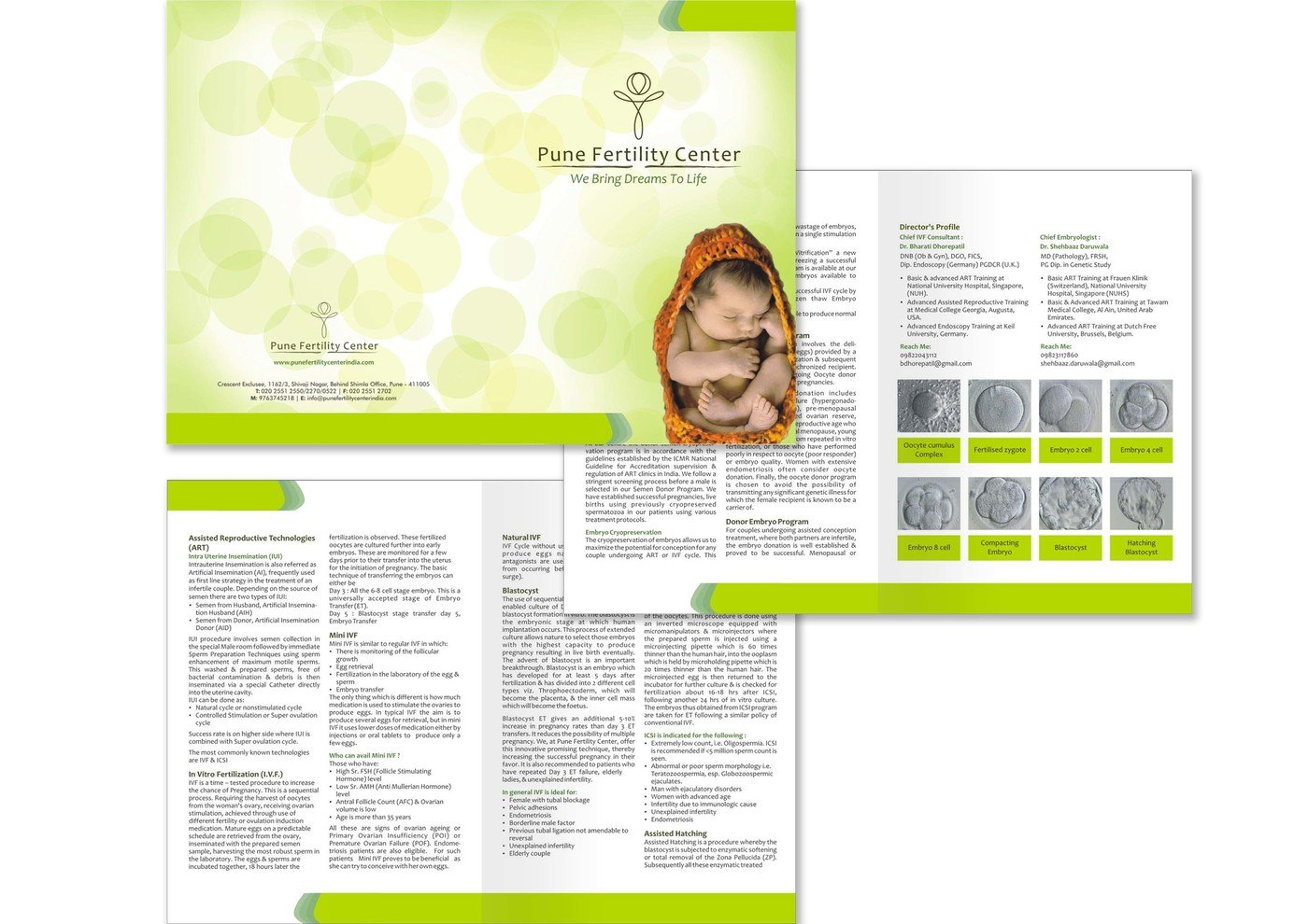 Brand Identity for Pune Fertility Center by Trina Kundu at
