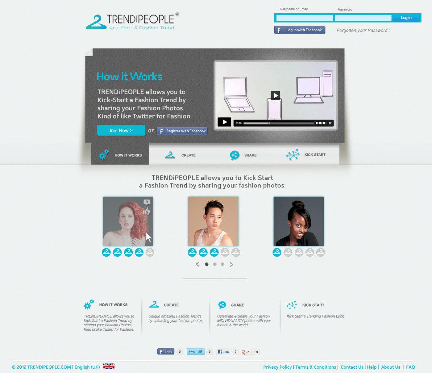 TRENDiPEOPLE - GUI Design by Michael Padua at Coroflot com