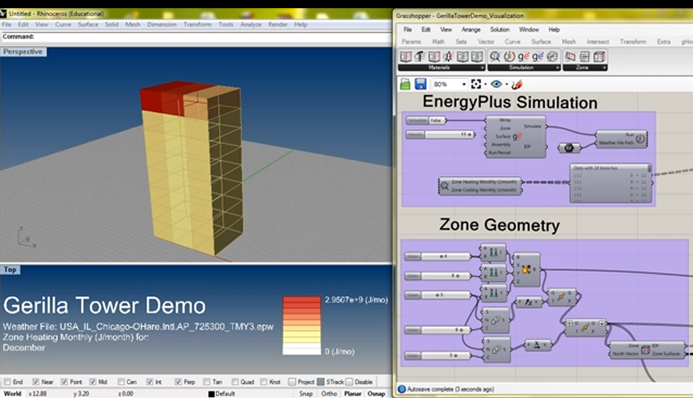 Gerilla: Grasshopper + EnergyPlus for Parametric Energy Modeling by