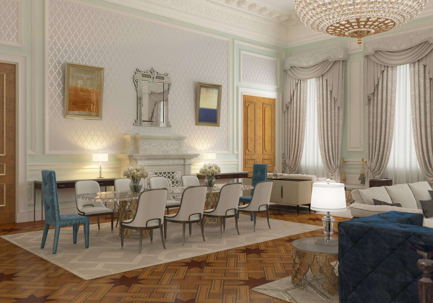 Interior Design Of Presidential Suite Of The Bariatinsky Palace (Modern  Vision Of Interiors) By Darya Girina At Coroflot.com