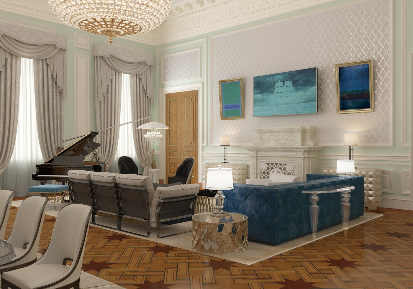 Interior Design Of Presidential Suite Of The Bariatinsky Palace (Modern  Vision Of Interiors) ...