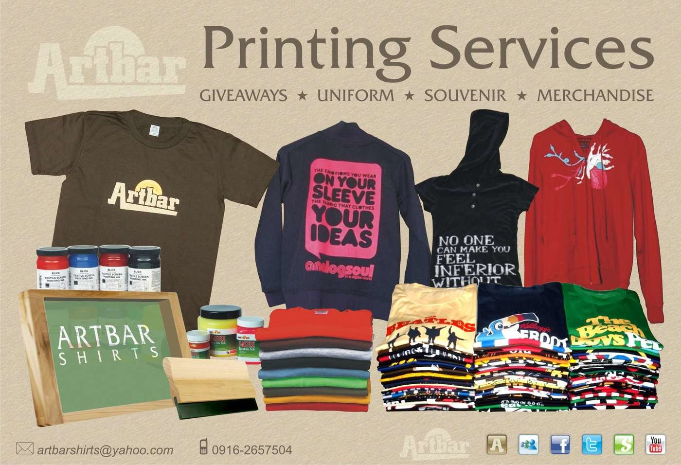 2eaccc44 Printing Services by Artbar Shirts at Coroflot.com