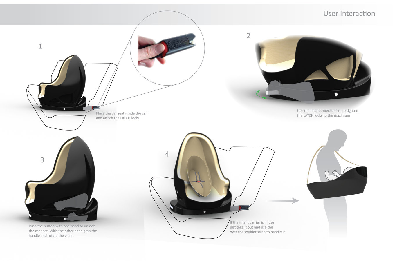 Child Car Seat Product Design By Jose Diaz Oldenburg At Coroflot Com