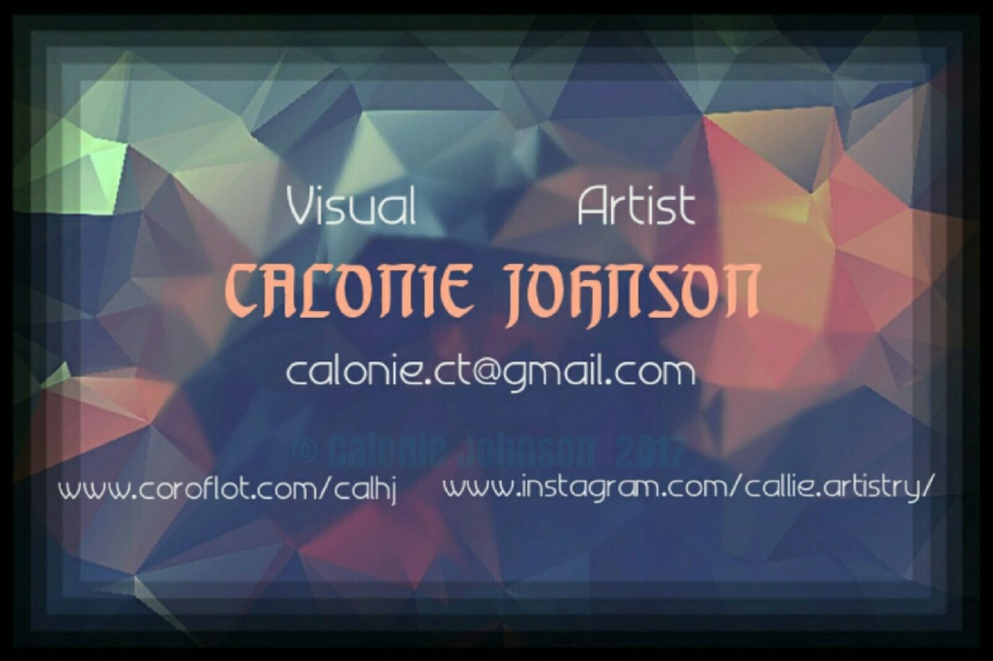 Graphic Design (business cards) by Calonie Johnson at Coroflot.com