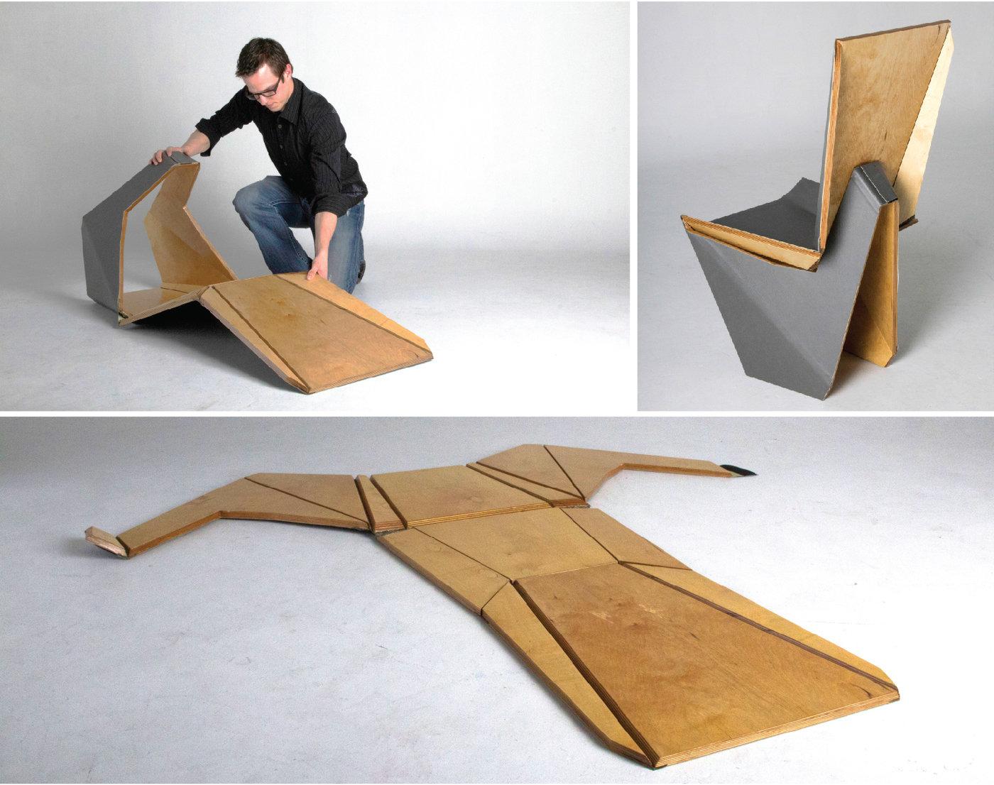 Wood-Skin: Origami Furniture - IPPINKA | 1106x1400