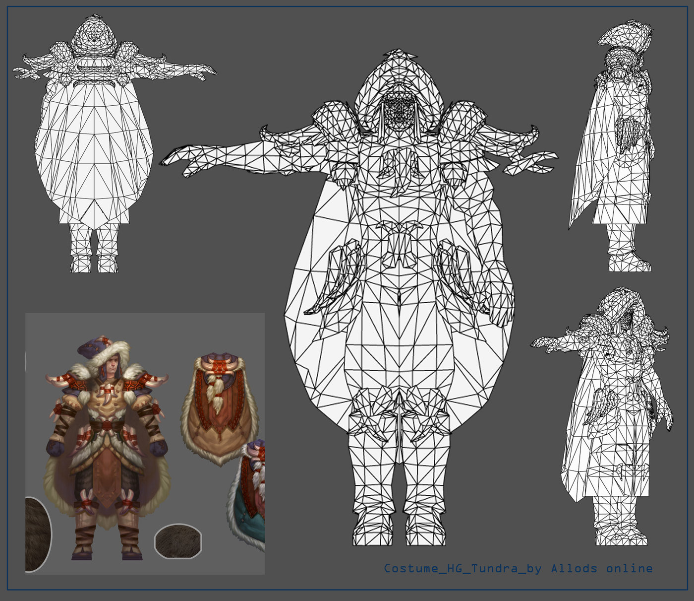 Low-poly model (for Allods online) by Olga Rodionova at