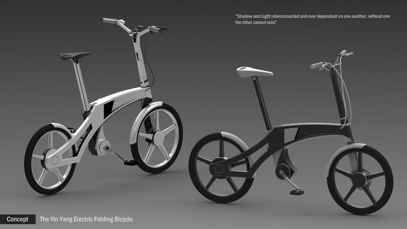 Folding Electric Bicycle Concept By Johan De Beer At