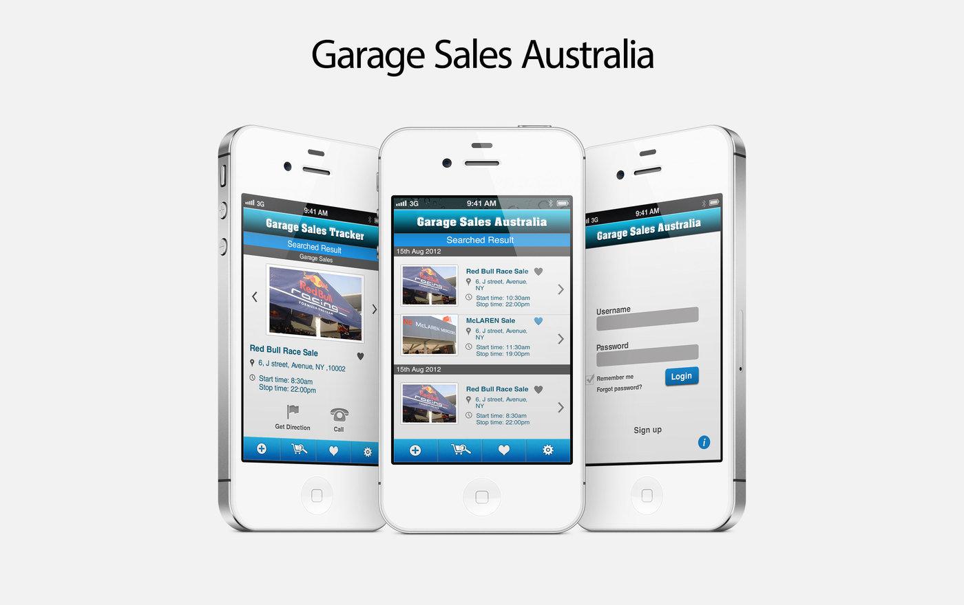 garage sales australia ios app by nirav suthar at coroflot com