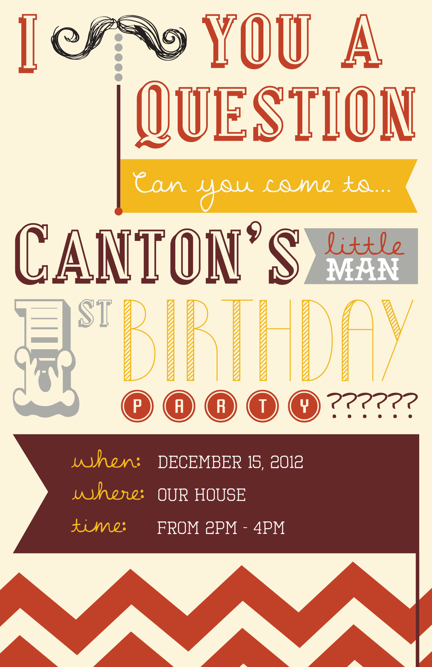 Custom Invitations 1st Birthday Party