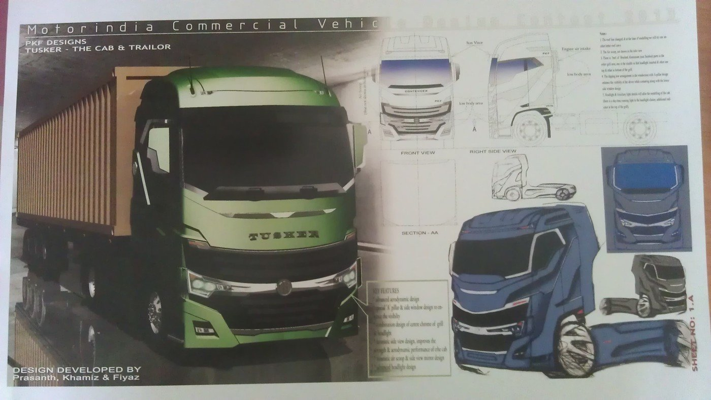 Tusker Motor India Commercial Vehicle Design Contest 2013 By Fiyaz P A At Coroflot Com