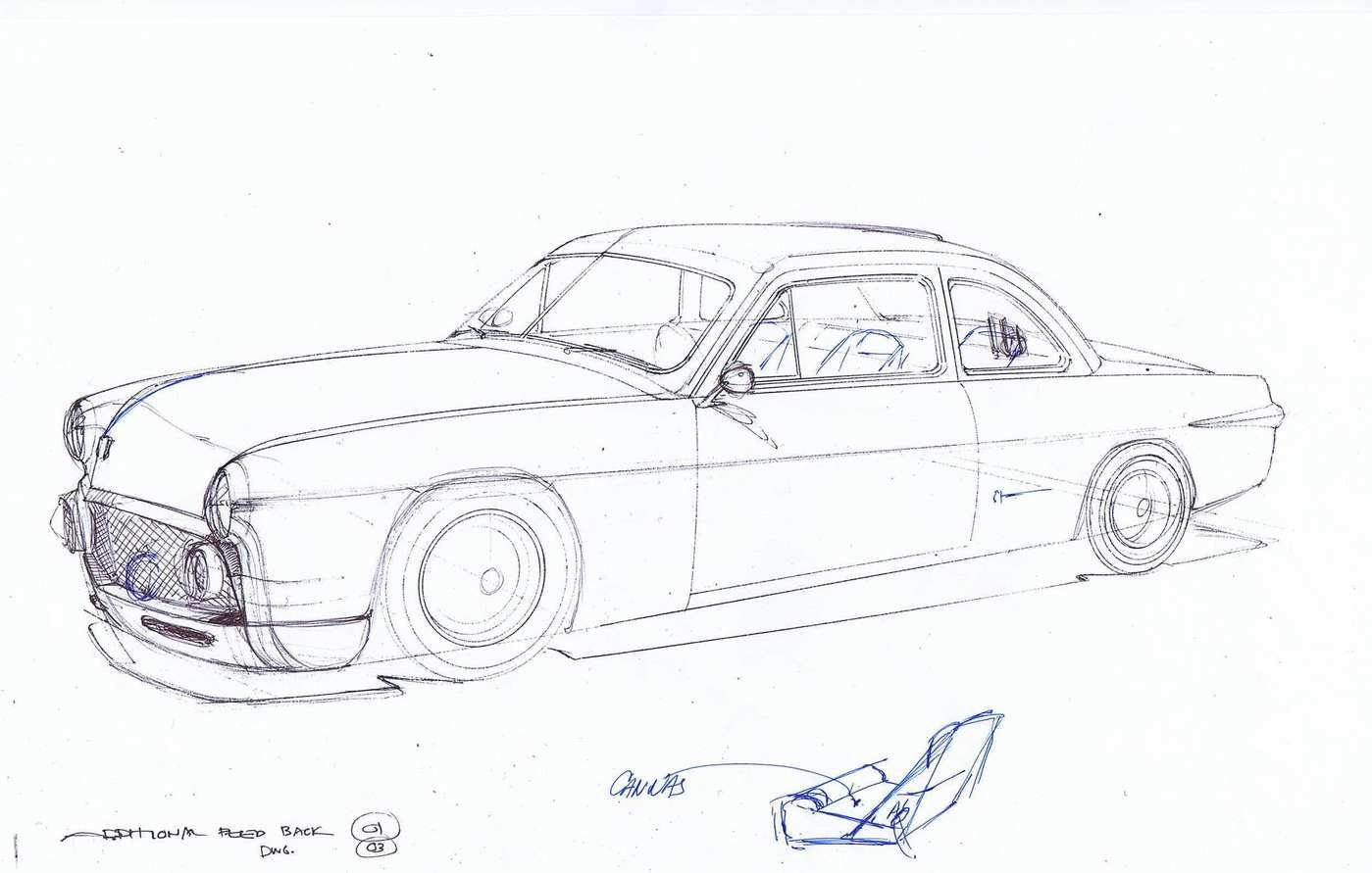 2011 - 2016 Bruce Leven '51 Ford Concept Drawings by Alberto