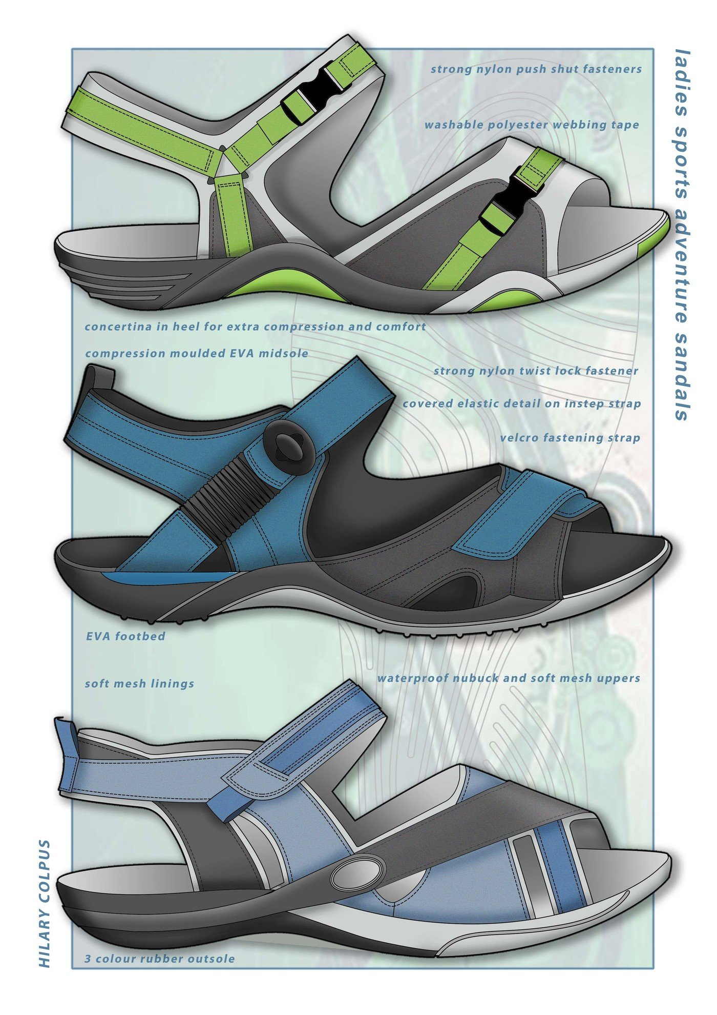 Ladies Sports Sandals by Hilary Colpus