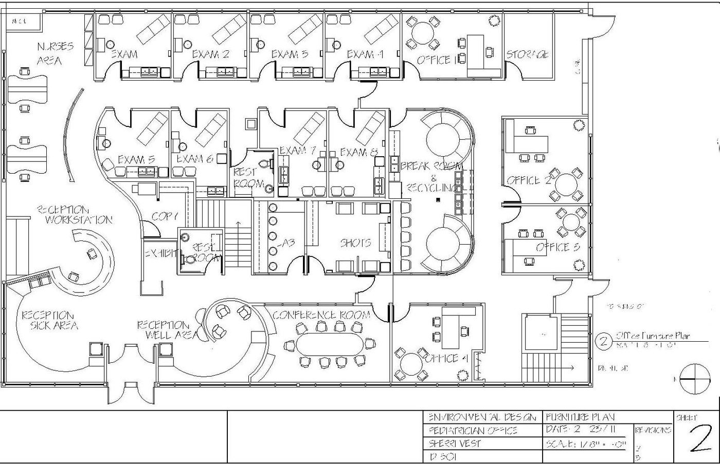 Pediatric Office Floor Plan By Sherri Vest At