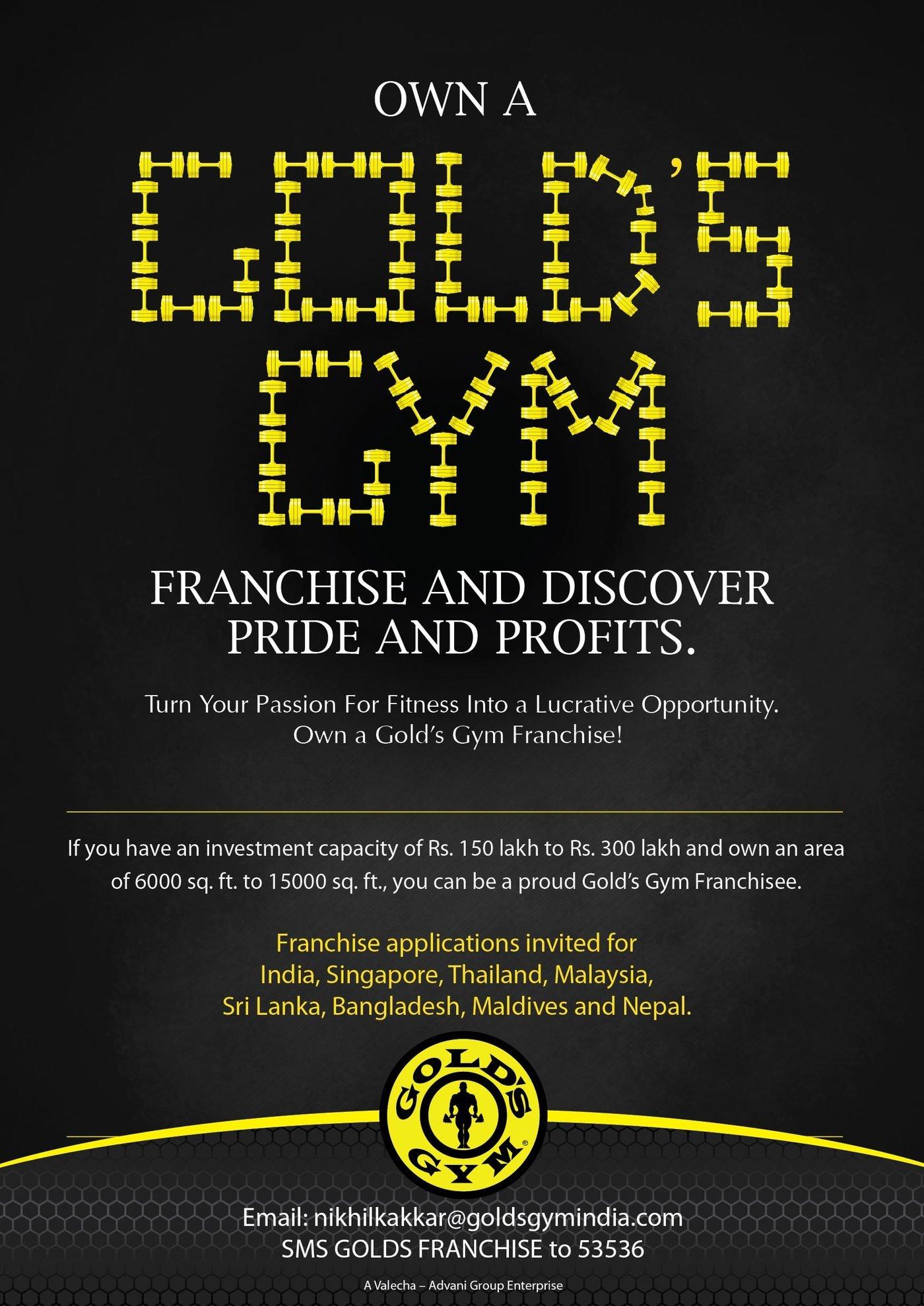 Gold S Gym Franchise Ad By Aditi Satpute At Coroflot Com
