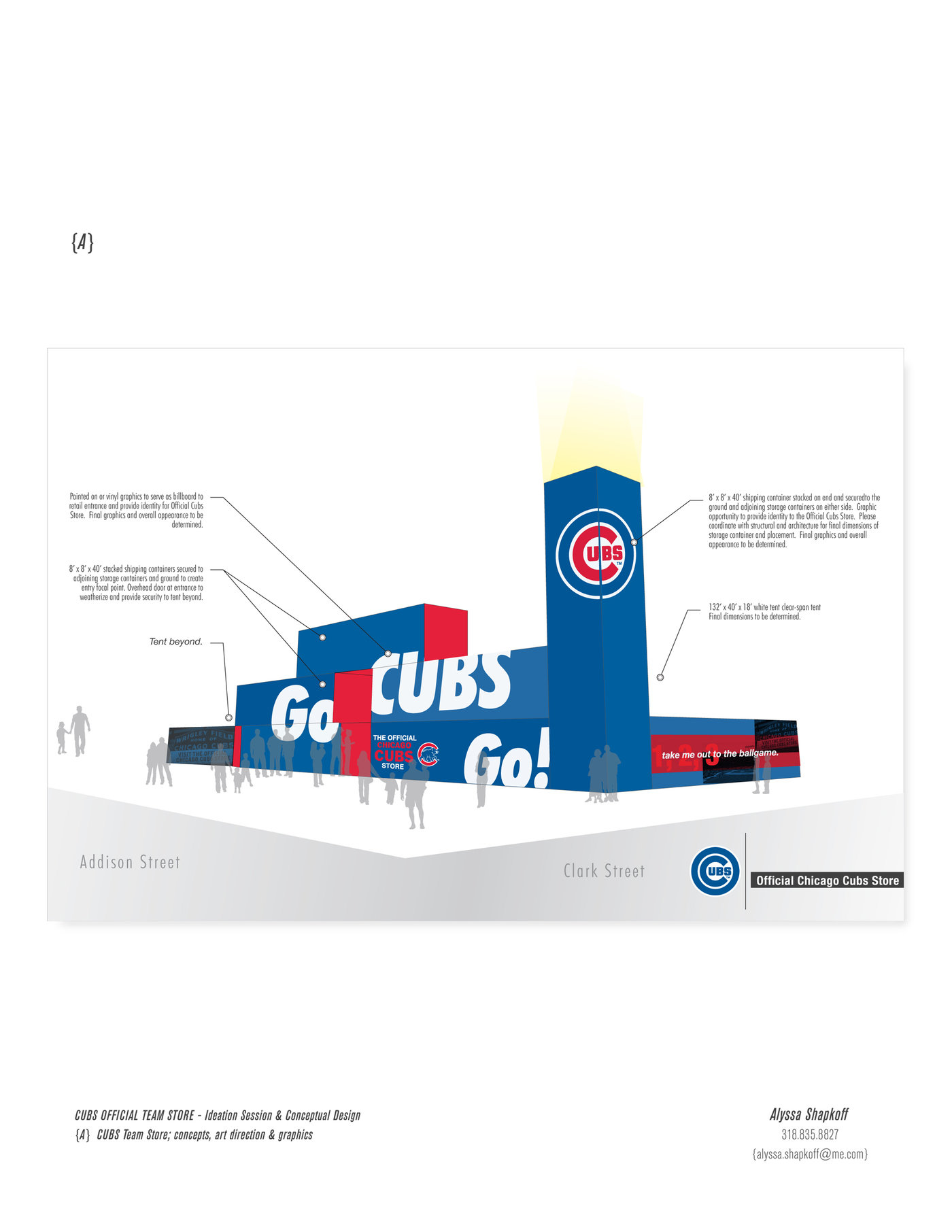 free shipping af37f 28b79 The Chicago Cubs by Alyssa Shapkoff at Coroflot.com