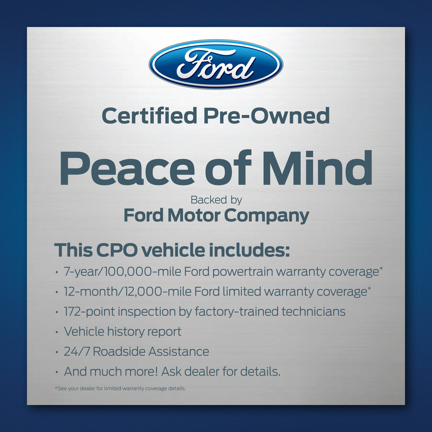 Ford Certified Pre Owned >> Ford Certified Pre Owned By Candice Pollock At Coroflot Com