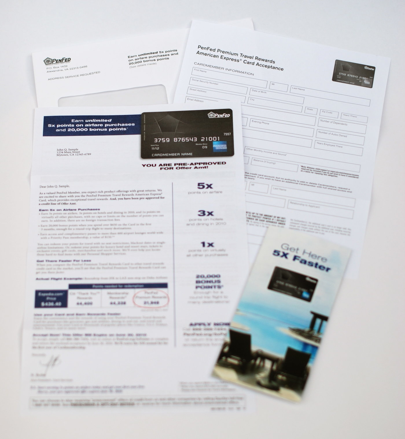 Direct Mail - PenFed Premium Travel Rewards American Express