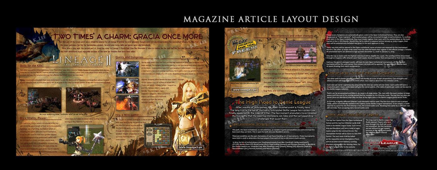 magazine article layout design by karen l at coroflot com