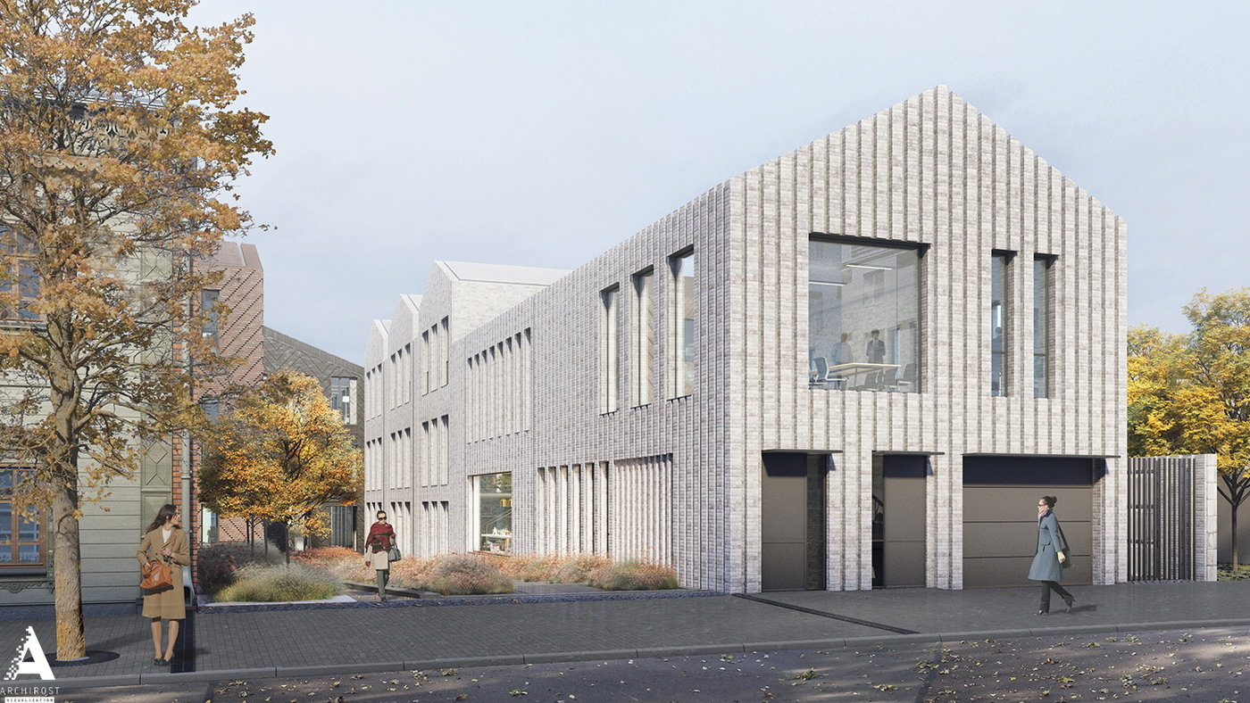 A Small Office Building With A Complex Brick Laying By Rostislav Nikolaev At Coroflot Com