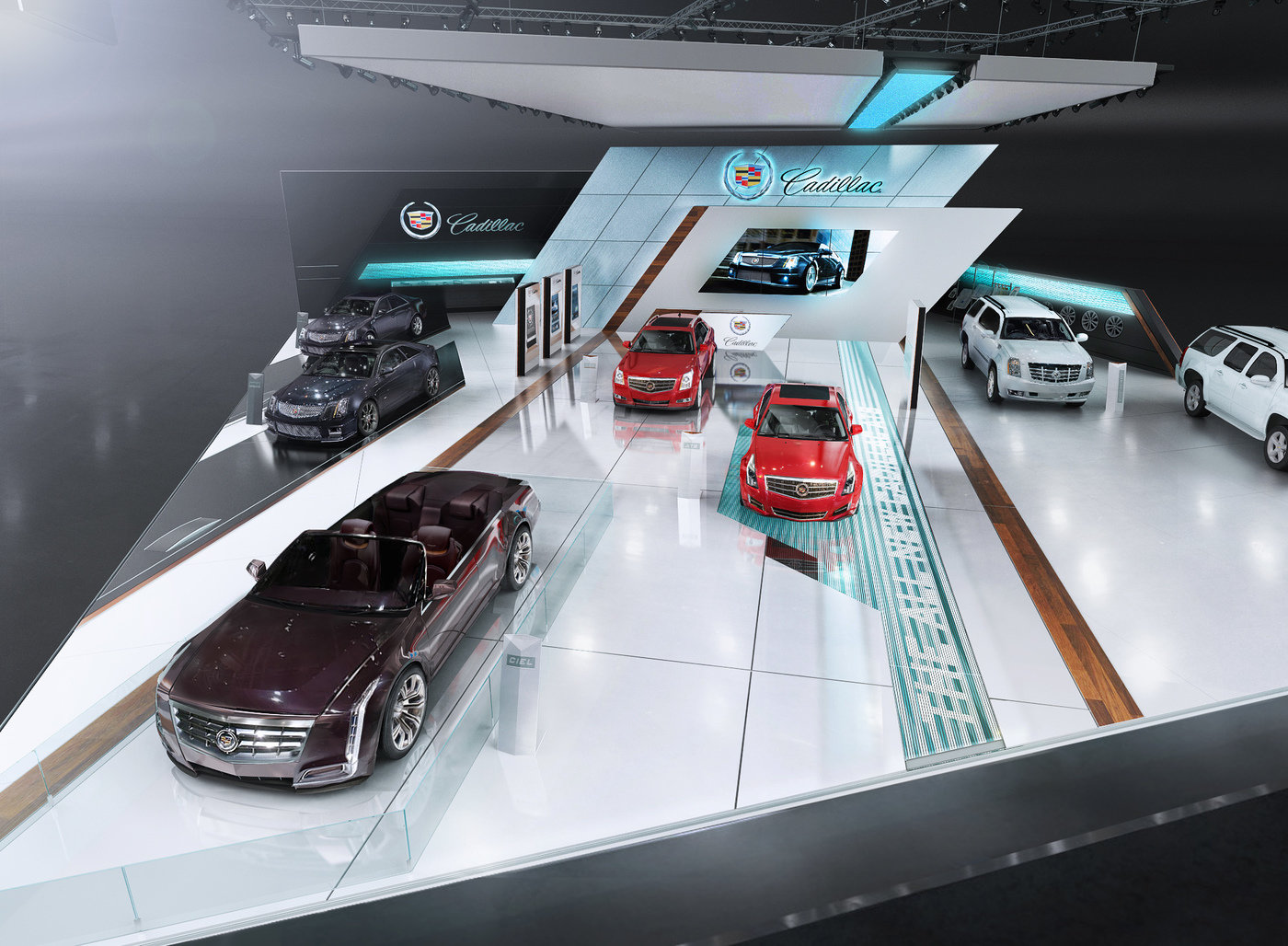 Exhibition Stand Design Awards : Cadillac mims stand by igor iastrebov at coroflot