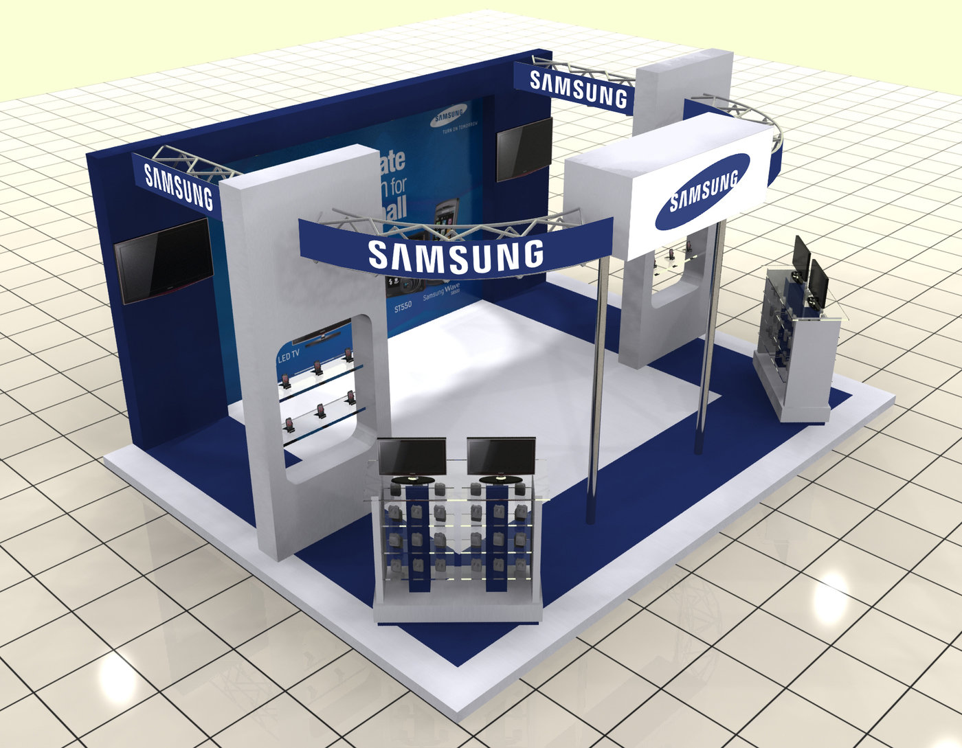Exhibition Stall Designers In Karachi : Samsung stall at park tower karachi by umair khan at coroflot.com