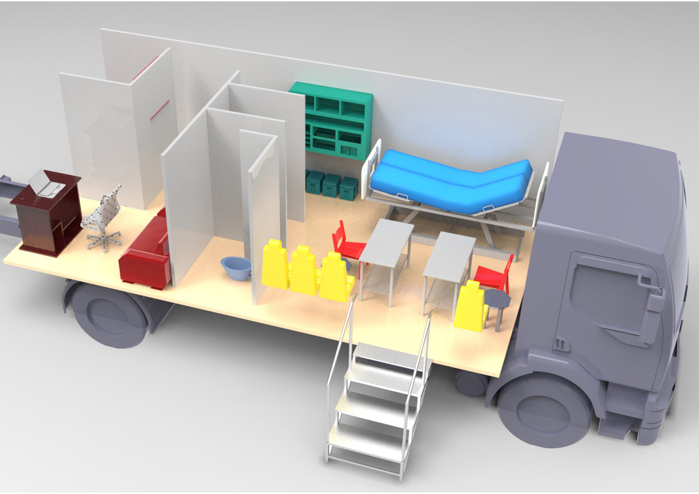 Design of a mobile medical clinic to function in remote
