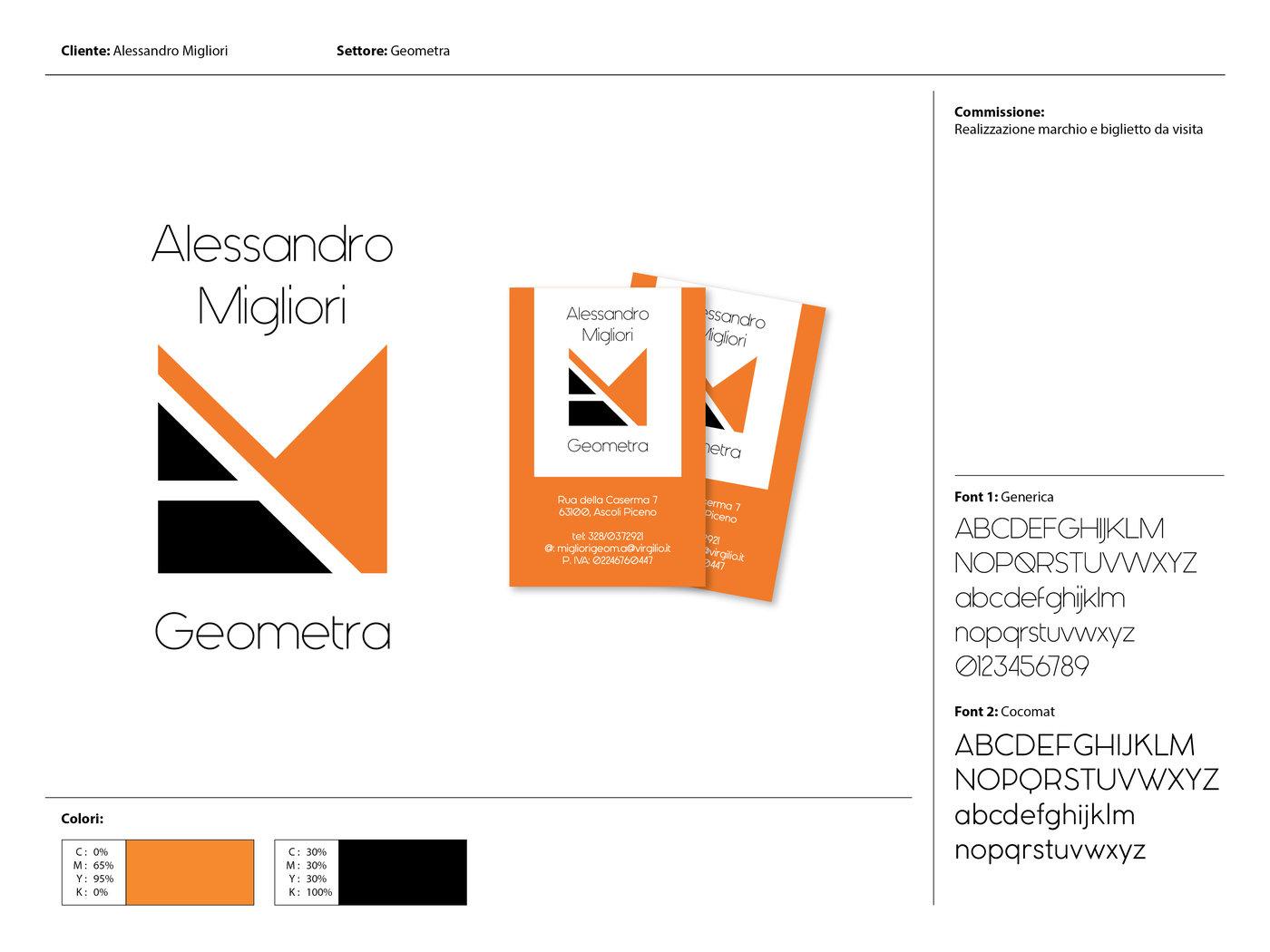 super popular classic style utterly stylish Logo e biglietto da visita per Alessandro Migliori, geometra ...