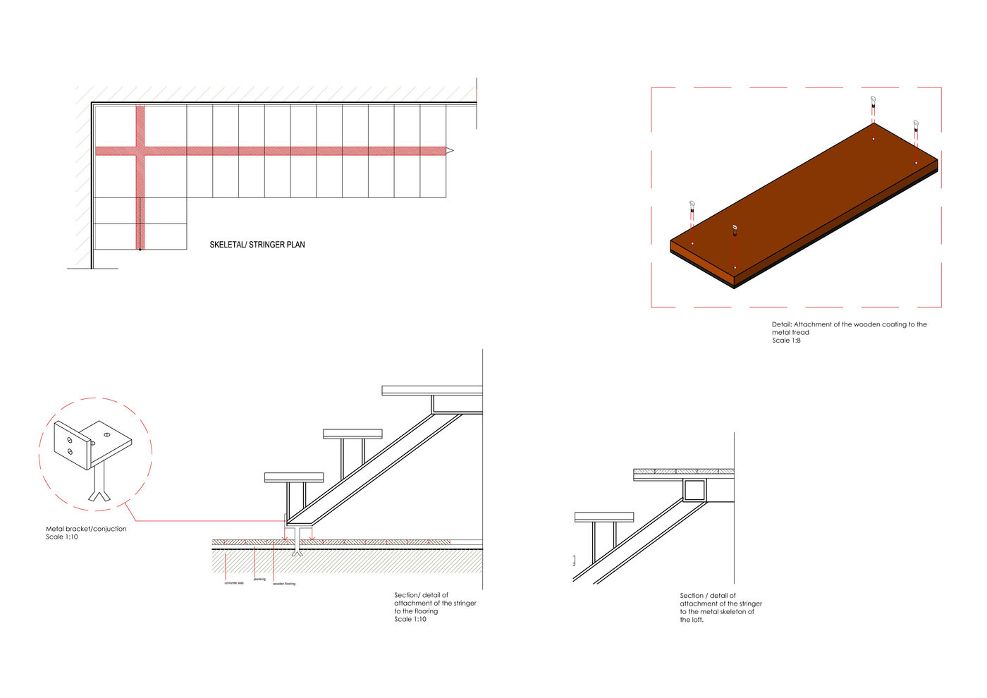 Staircases: Wooden & Metal Staircase by Anies Matelar at Coroflot com
