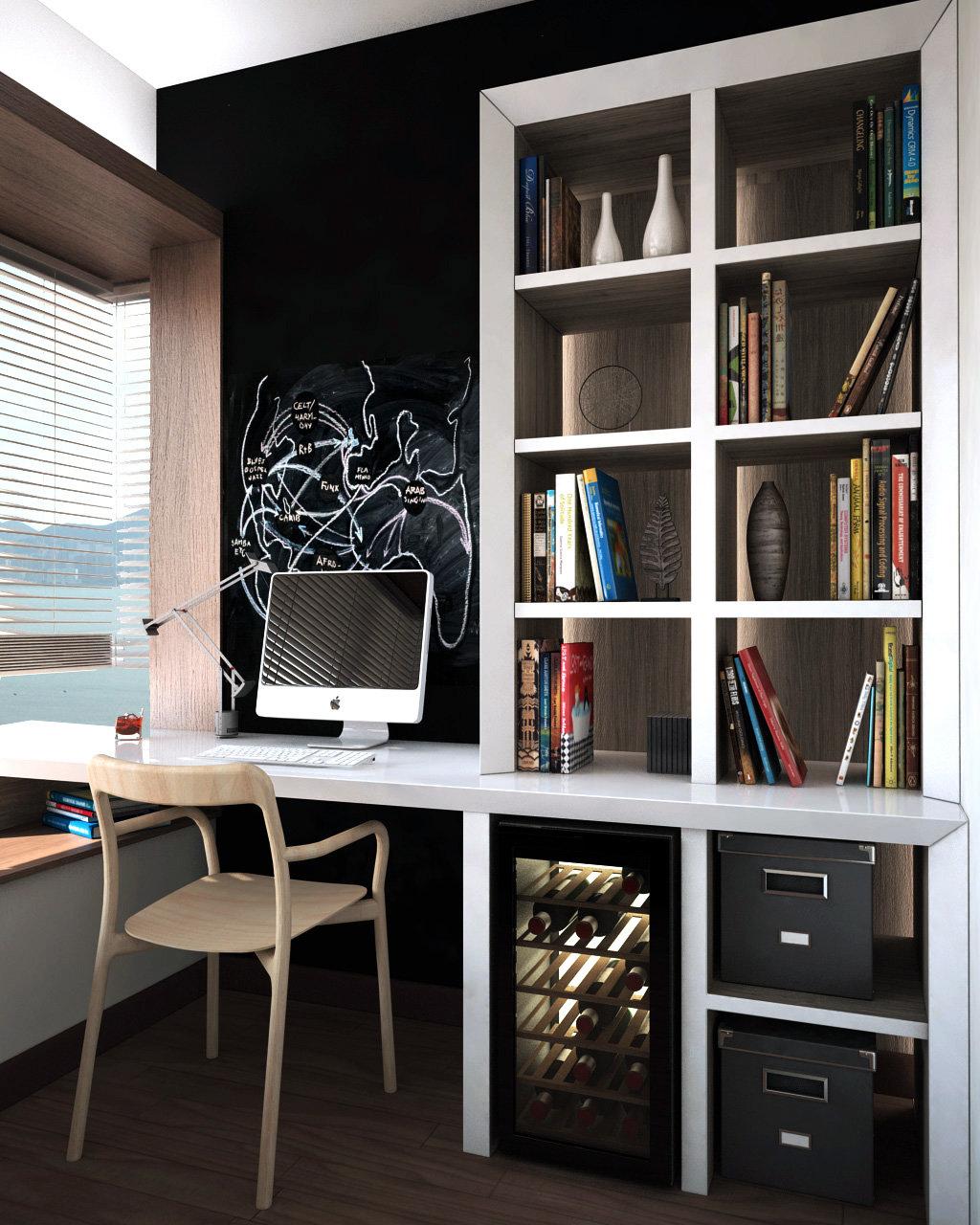 Study Room Interior Design: LOHAS Park Hong Kong Interior Design
