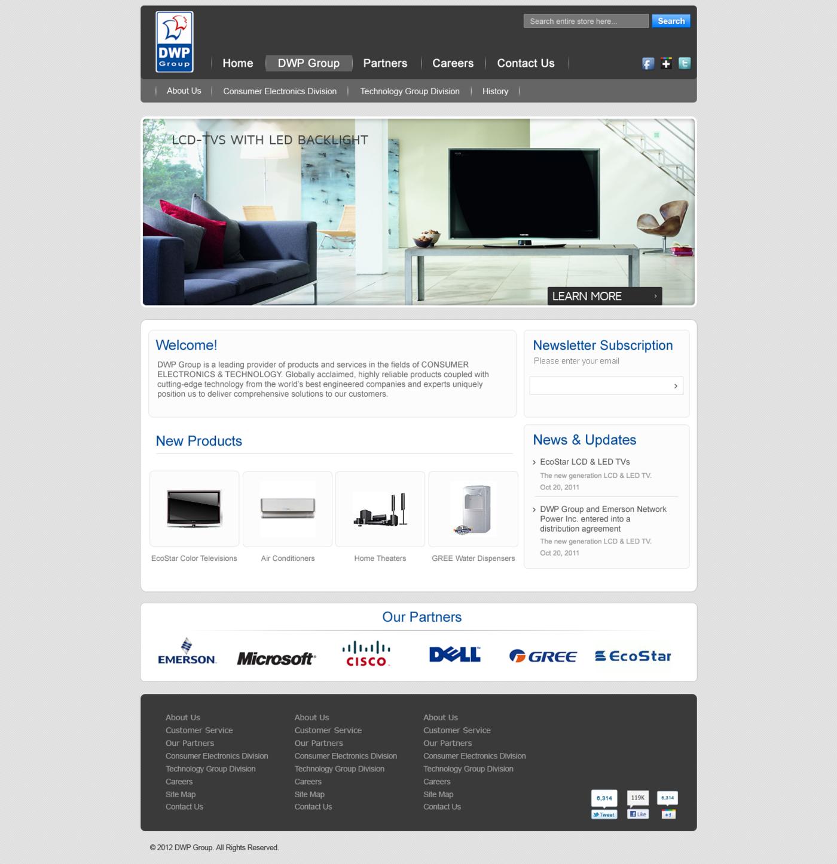 DWP Web Design by Moxie Move at Coroflot com